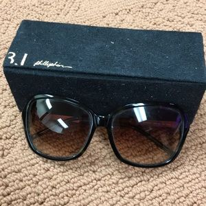 3-1 Phillip Lim green sunglasses with case
